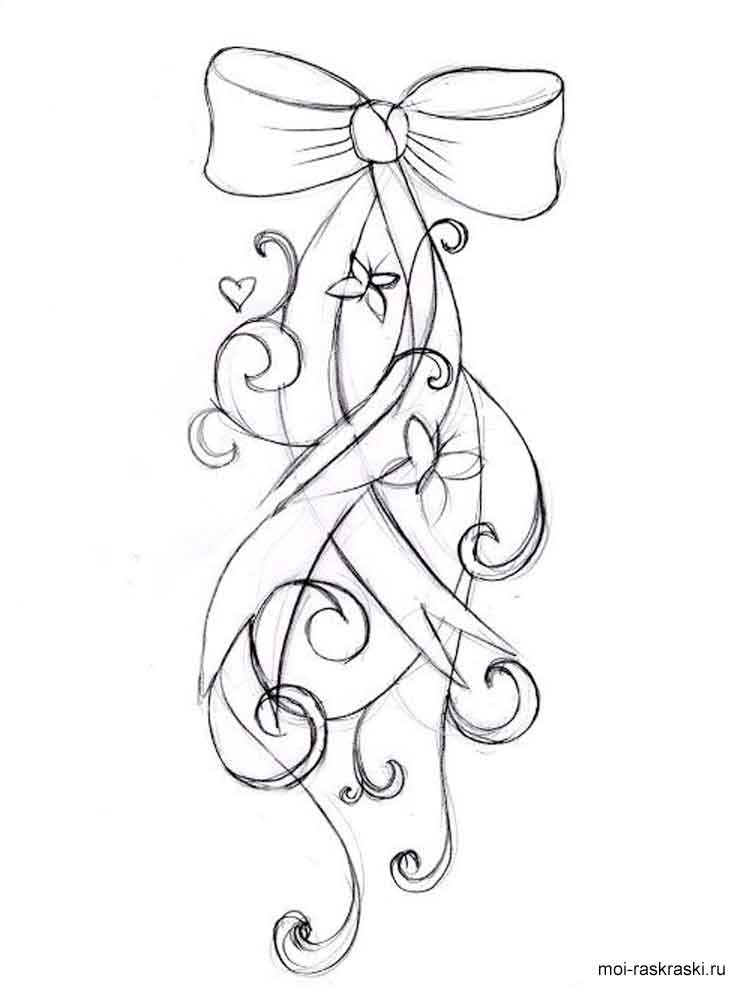 Bows Coloring Pages Free Printable Bows Coloring Pages Free Bow Coloring Pages