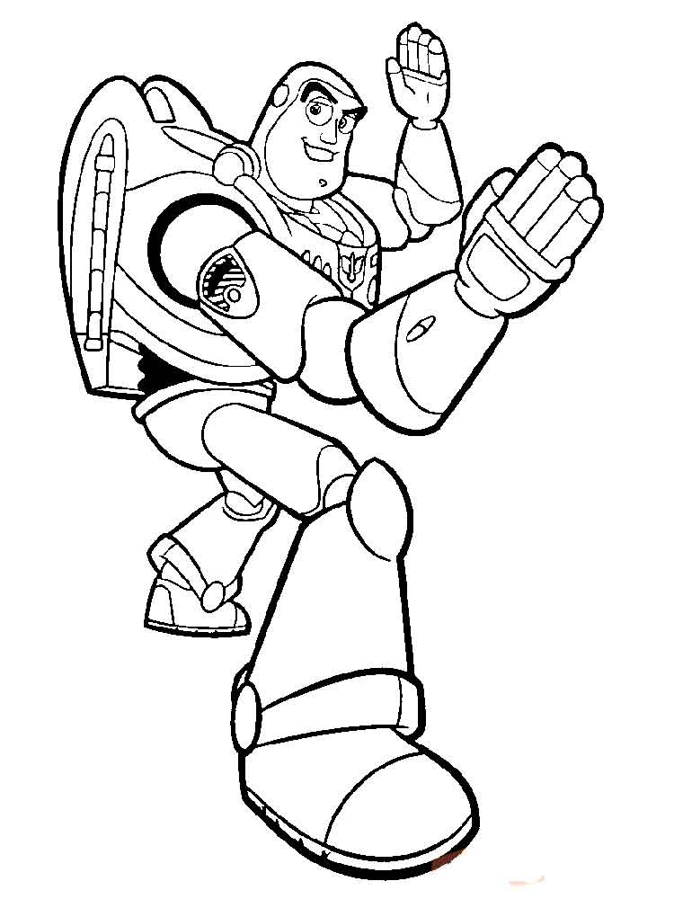 Buzz and Zurg coloring pages Free