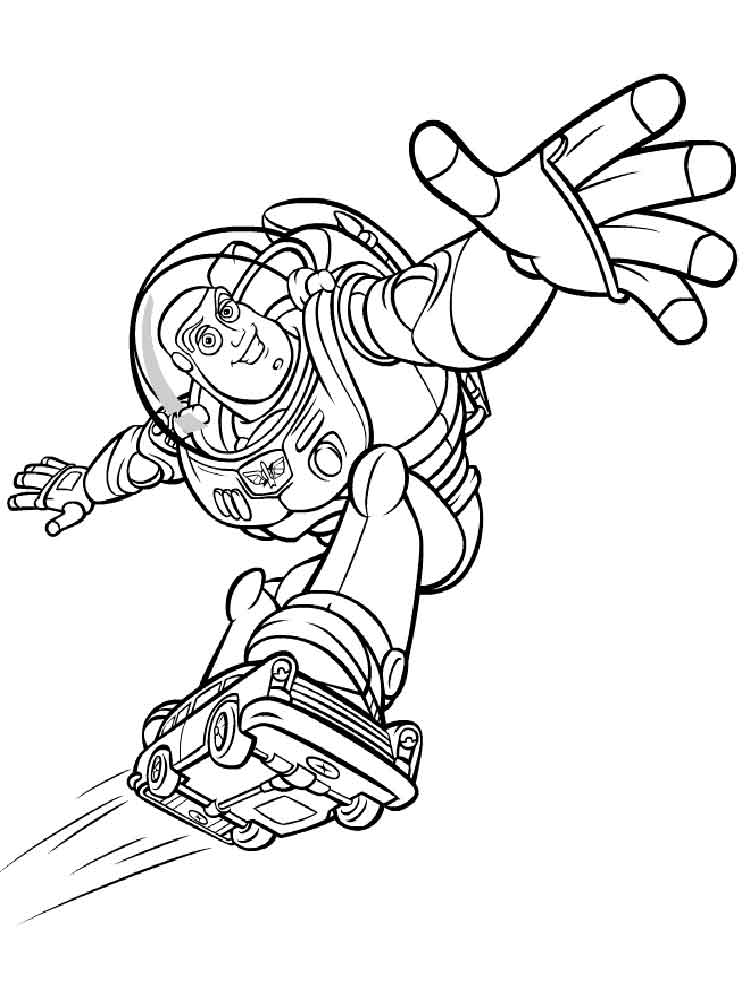 Buzz Lightyear Coloring Pages Free Printable Buzz