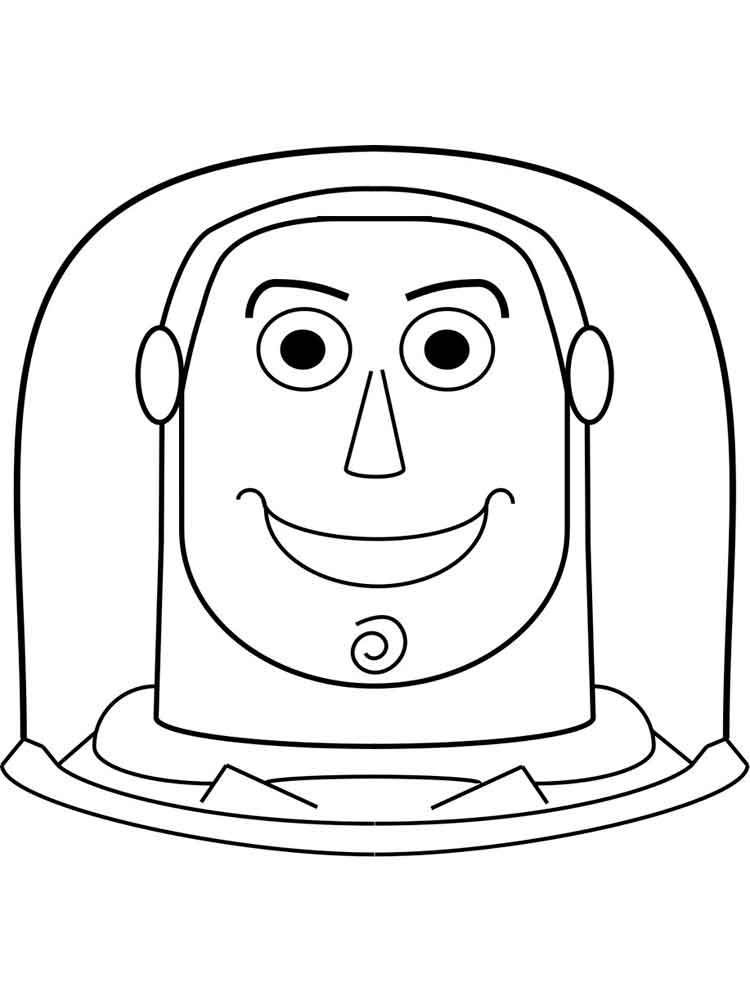 buzz lightyear coloring pages 6 - Buzz Lightyear Face Coloring Pages