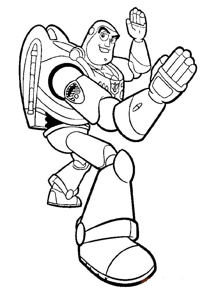 Buzz Lightyear Face Coloring Pages