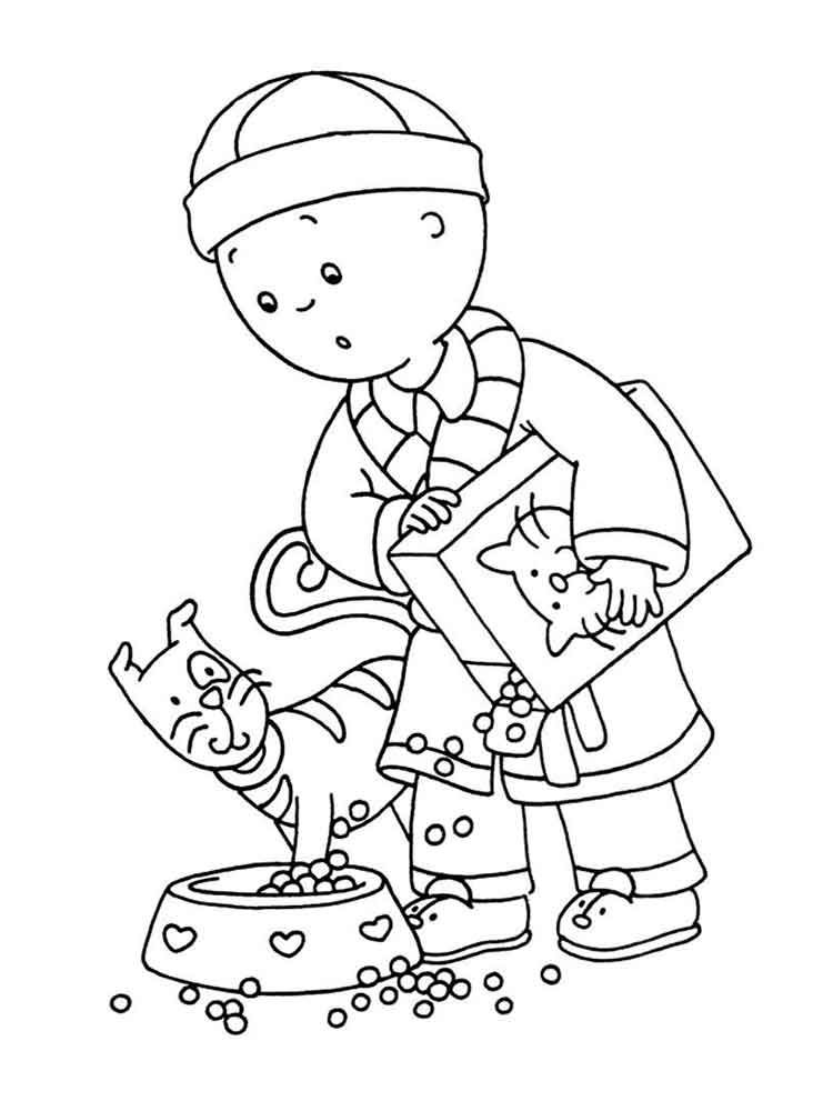 Caillou coloring pages. Free Printable Caillou coloring pages.
