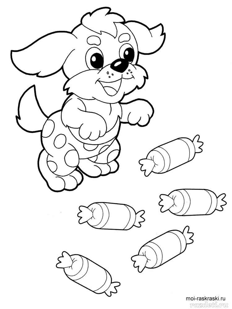 Candy coloring pages Free Printable