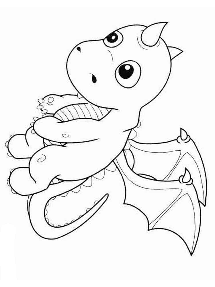 cartoon dragon coloring pages - photo#20