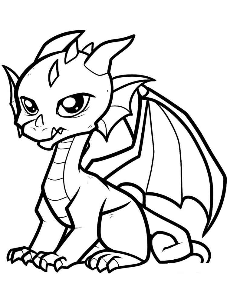 Cartoon Dragon coloring pages. Free Printable Cartoon ...