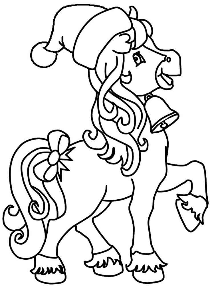 Cartoon Horse coloring pages. Free Printable Cartoon Horse ...