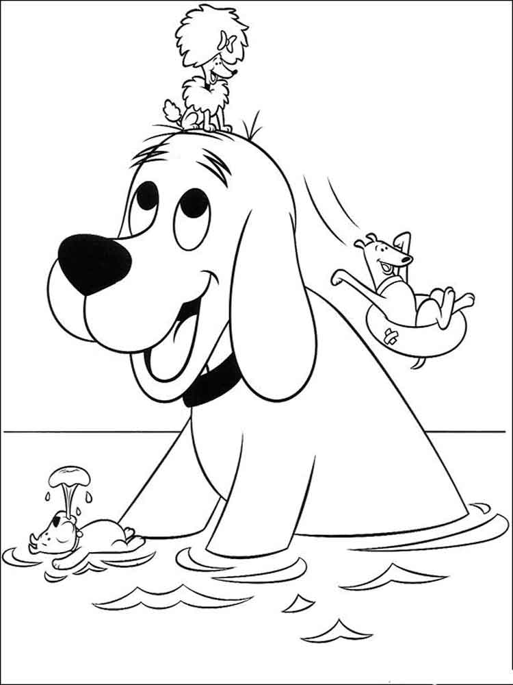 Clifford coloring pages. Free Printable Clifford coloring ...