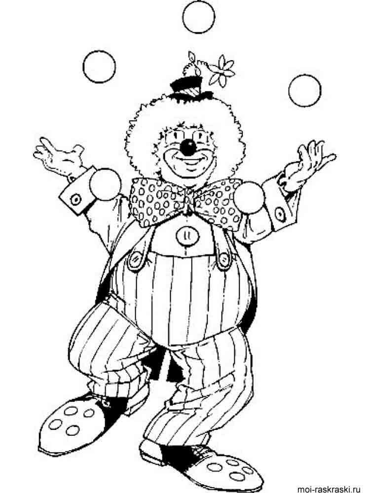 Clown coloring pages. Download and print Clown coloring pages.