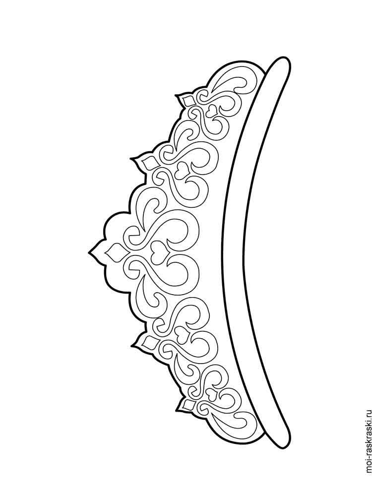 Crown Coloring Pages Free Printable Crown Coloring Pages