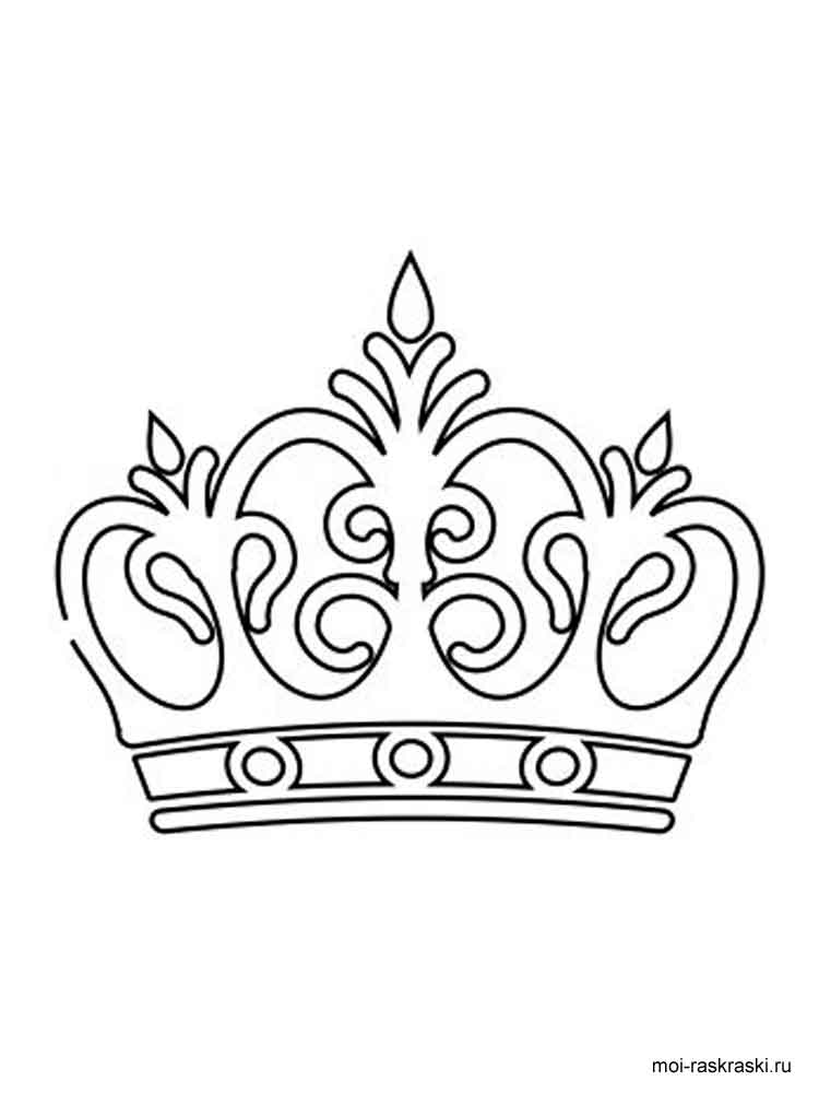 Crown coloring pages Free Printable