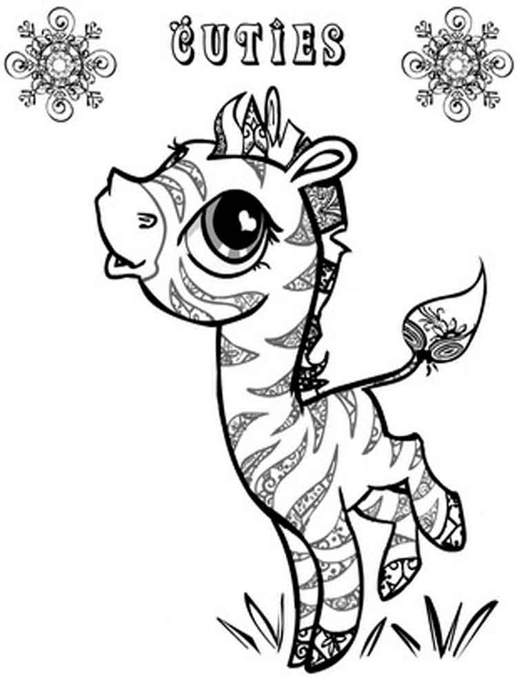 Cuties Coloring Pages Free Printable Cuties Coloring Pages