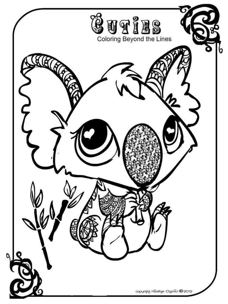 Cuties coloring pages Free Printable