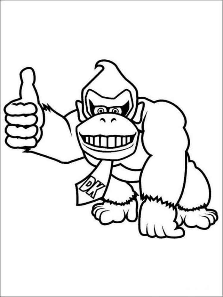 Donkey Kong coloring pages. Free Printable Donkey Kong ...