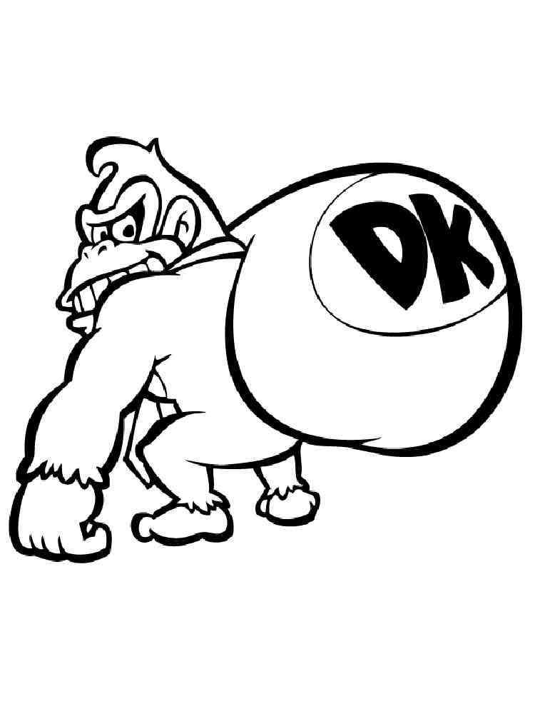 Donkey Kong coloring pages. Free Printable Donkey Kong ...