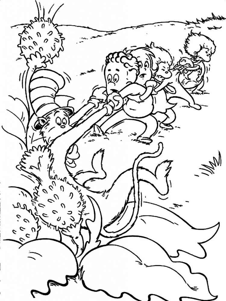 Dr seuss coloring pages free printable dr seuss for Dr seuss coloring pages