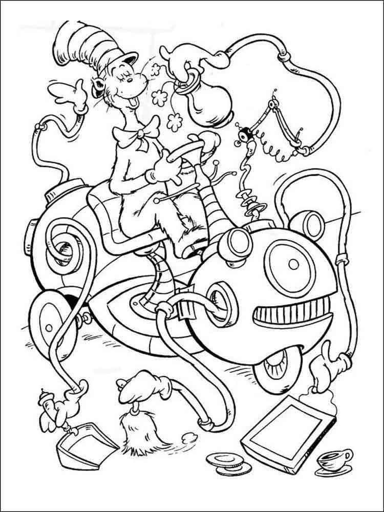 Dr Seuss Coloring Pages Free Printable Dr Seuss