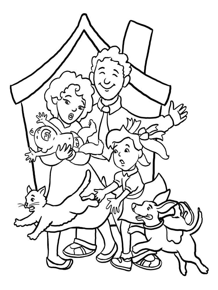 Family coloring pages download and print family coloring for Printable family coloring pages