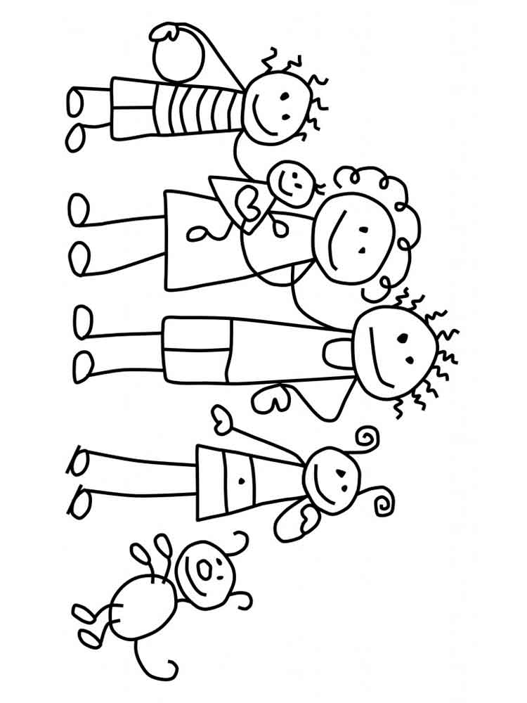 Family photo coloring pages ~ Family coloring pages. Download and print Family coloring ...