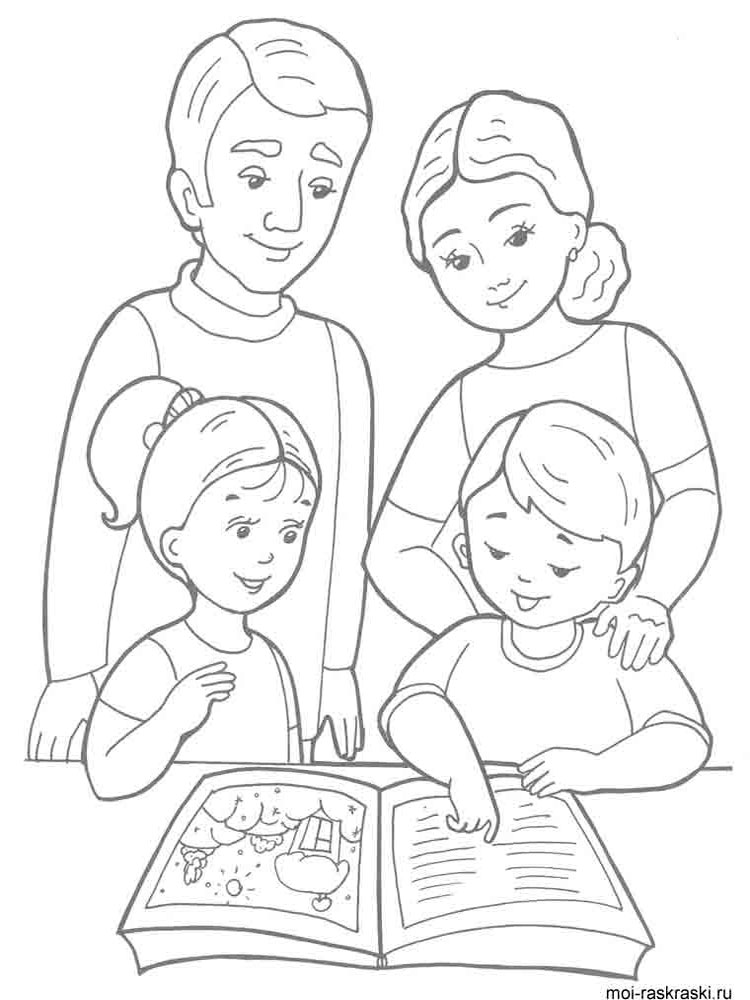 Family coloring pages Download
