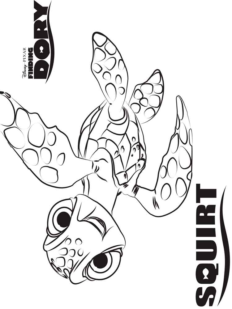 Finding Dory coloring pages Free Printable Finding Dory