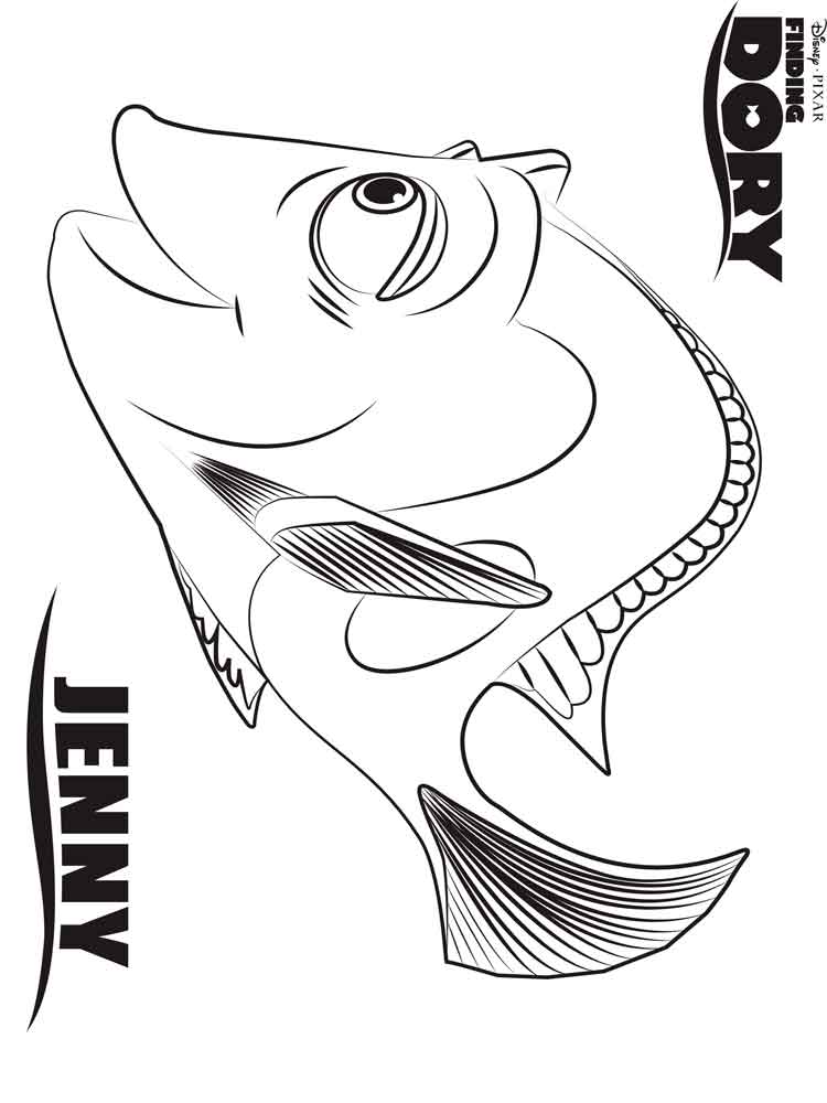 Finding Dory coloring pages Free Printable Finding Dory coloring