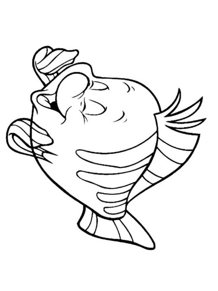 flounder coloring pages 3 - Buzz Lightyear Face Coloring Pages