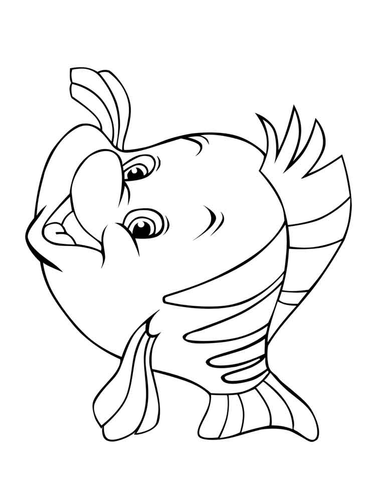 Flounder coloring pages Free Printable Flounder coloring