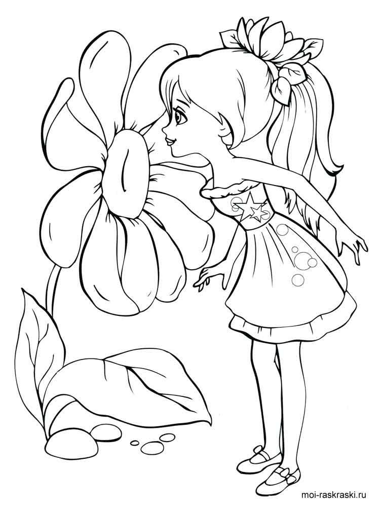 Girl coloring pages Free Printable