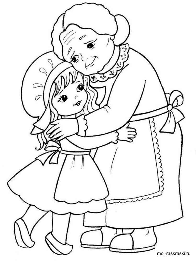 free grandma coloring pages-#39