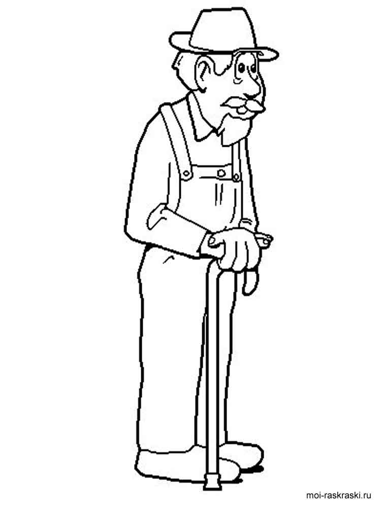 Grandpa coloring pages Free Printable
