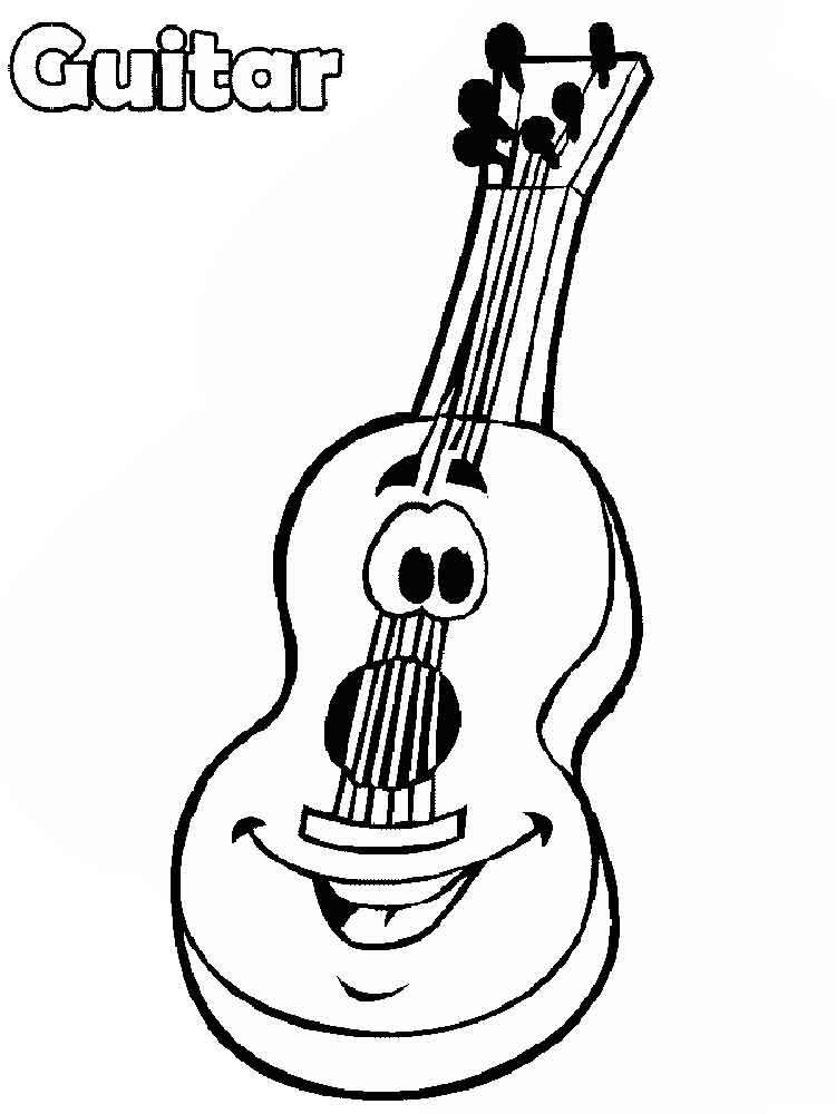 Guitar Coloring Pages Download And Print Guitar Coloring