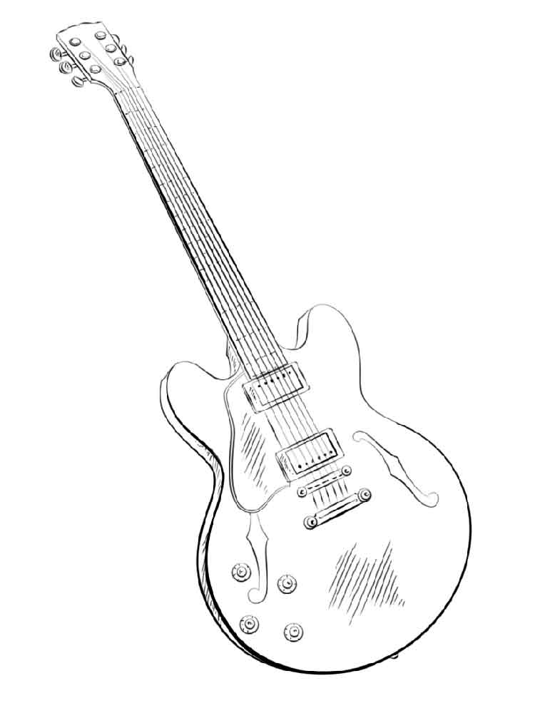 Guitar coloring pages. Download and print Guitar coloring ...
