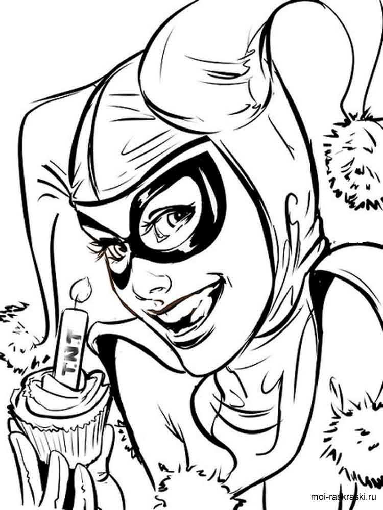 Harley Quinn coloring pages Free Printable Harley Quinn coloring