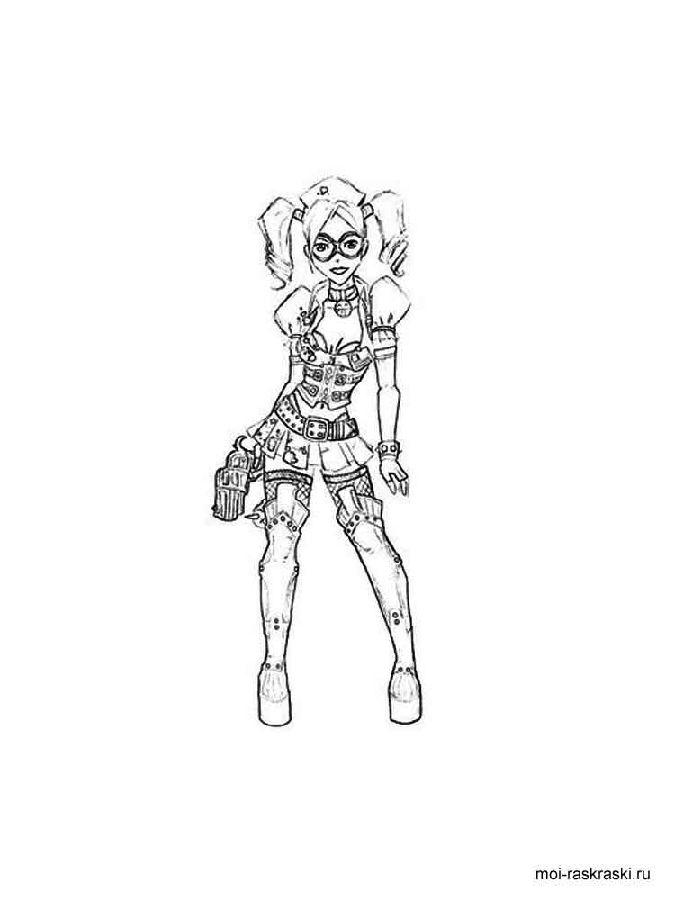harley quinn coloring pages 15 - Harley Quinn Coloring Page