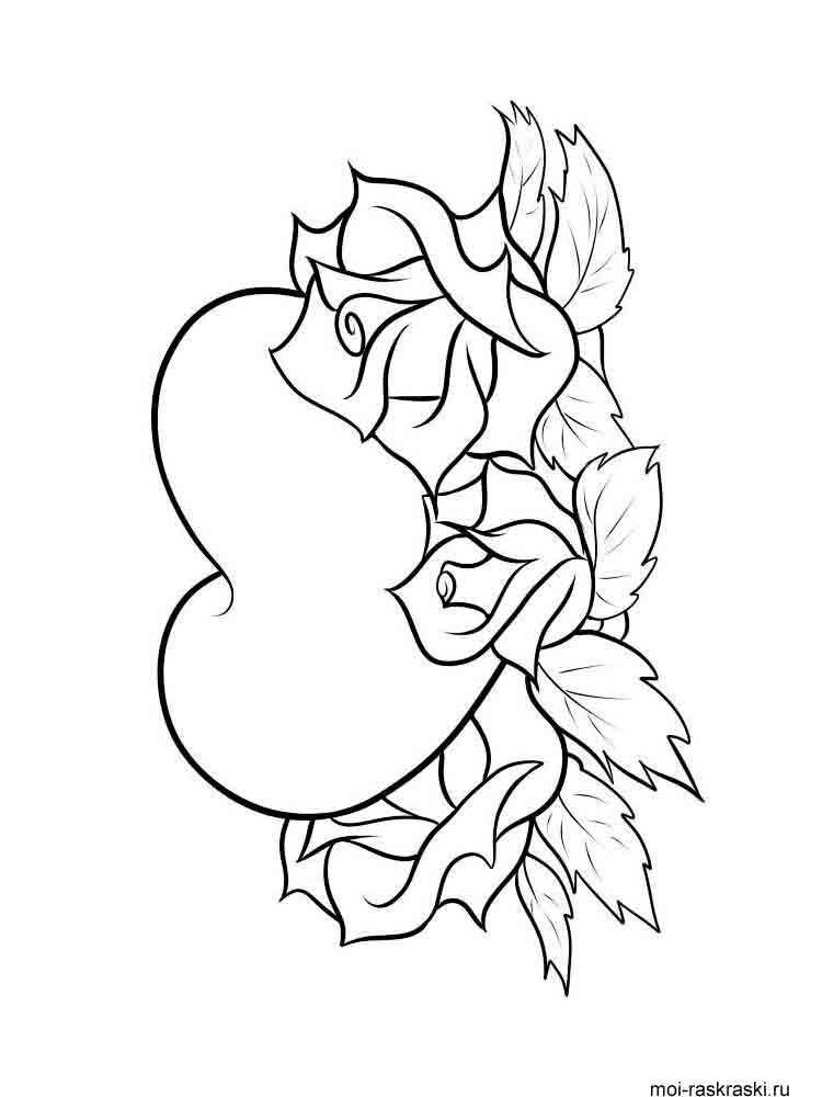 Heart Coloring Pages. Download And Print Heart Coloring Pages