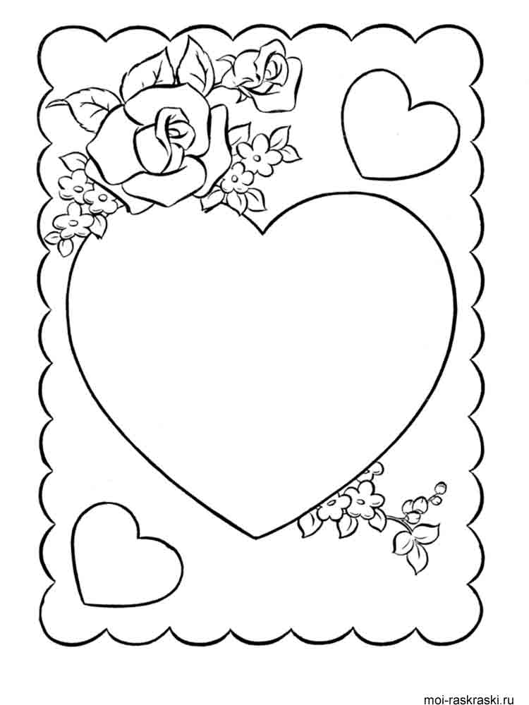 Heart coloring pages Download