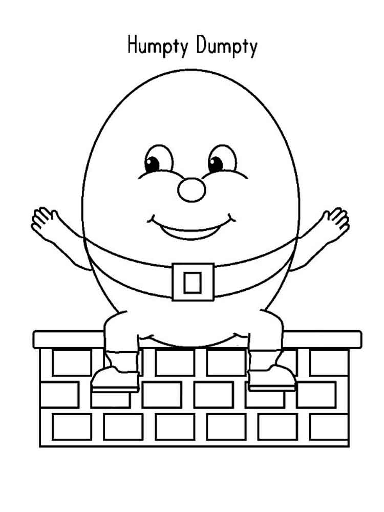 Humpty dumpty coloring pages free printable humpty dumpty for Humpty dumpty coloring pages