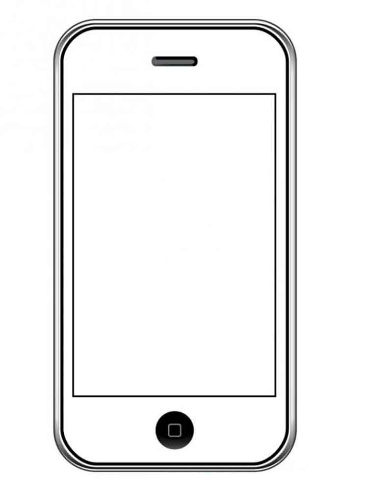 IPhone coloring pages. Download and print IPhone coloring ...