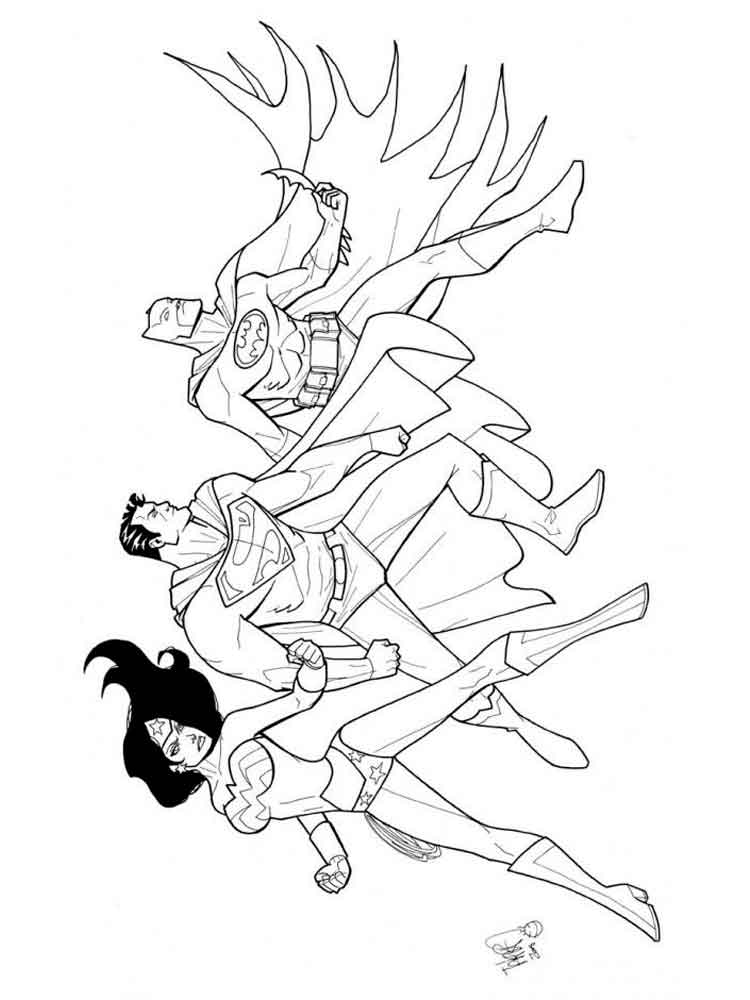 Justice League Coloring Pages Free Printable Justice