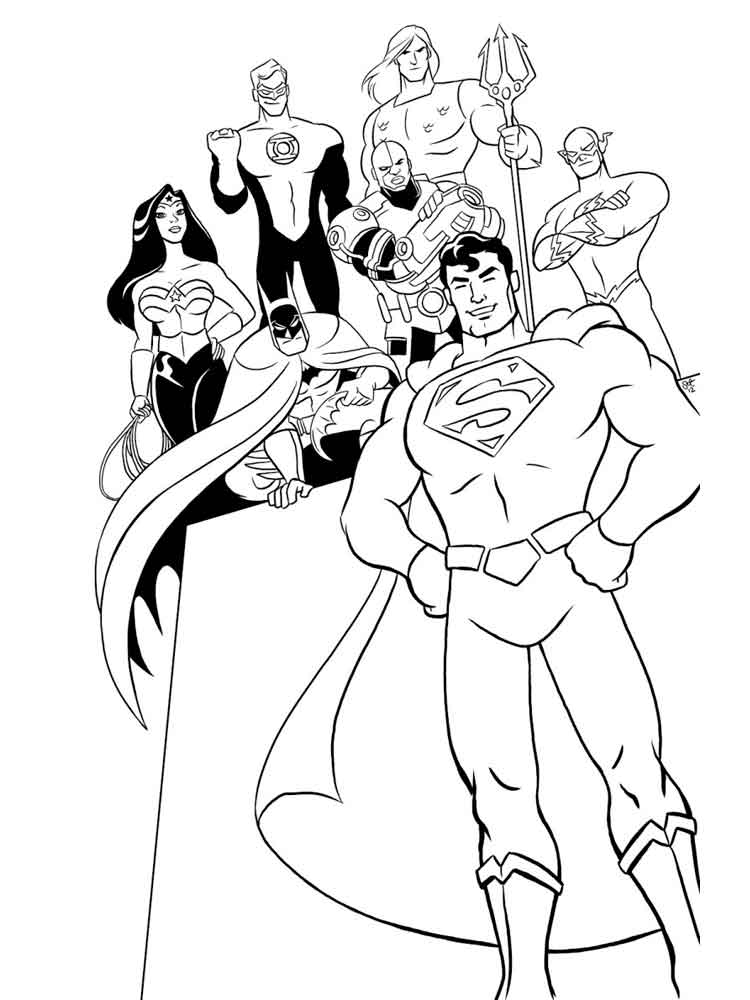 Justice League coloring pages. Free Printable Justice ...