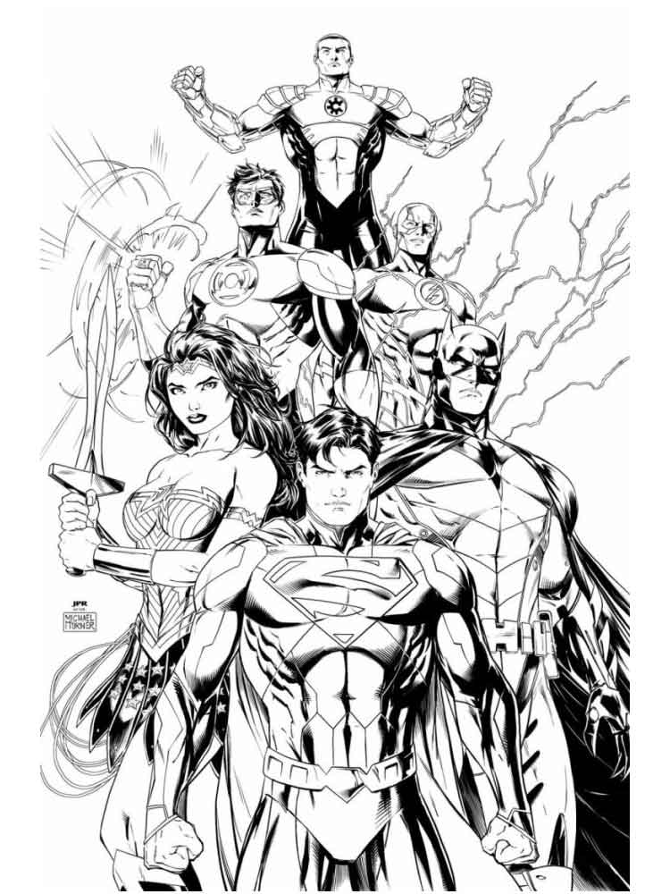 Justice League Coloring Pages free printable - Enjoy Coloring ... | 1000x750