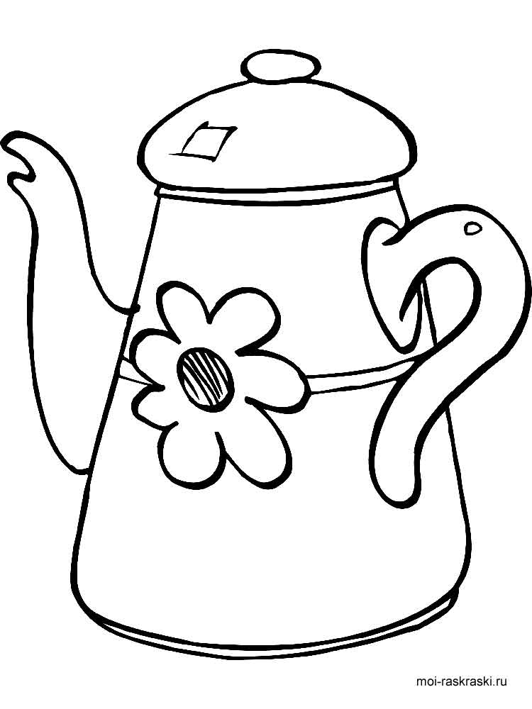 electric kettle coloring page coloring pages