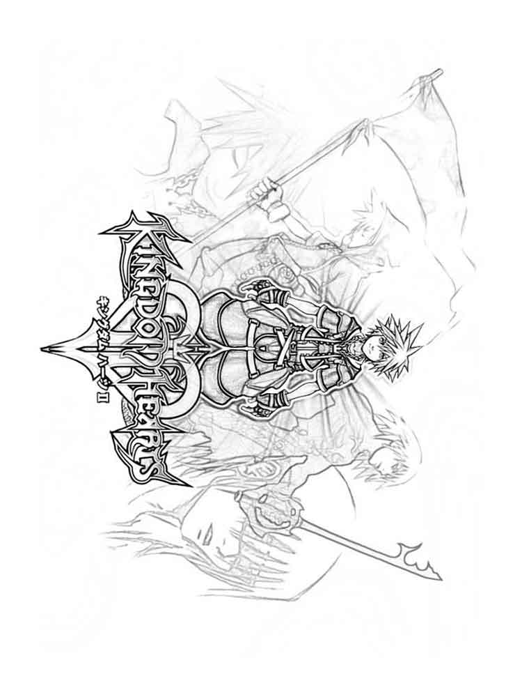 Kingdom Hearts coloring pages. Free Printable Kingdom ...