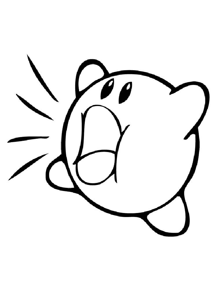 kirby coloring pages 1