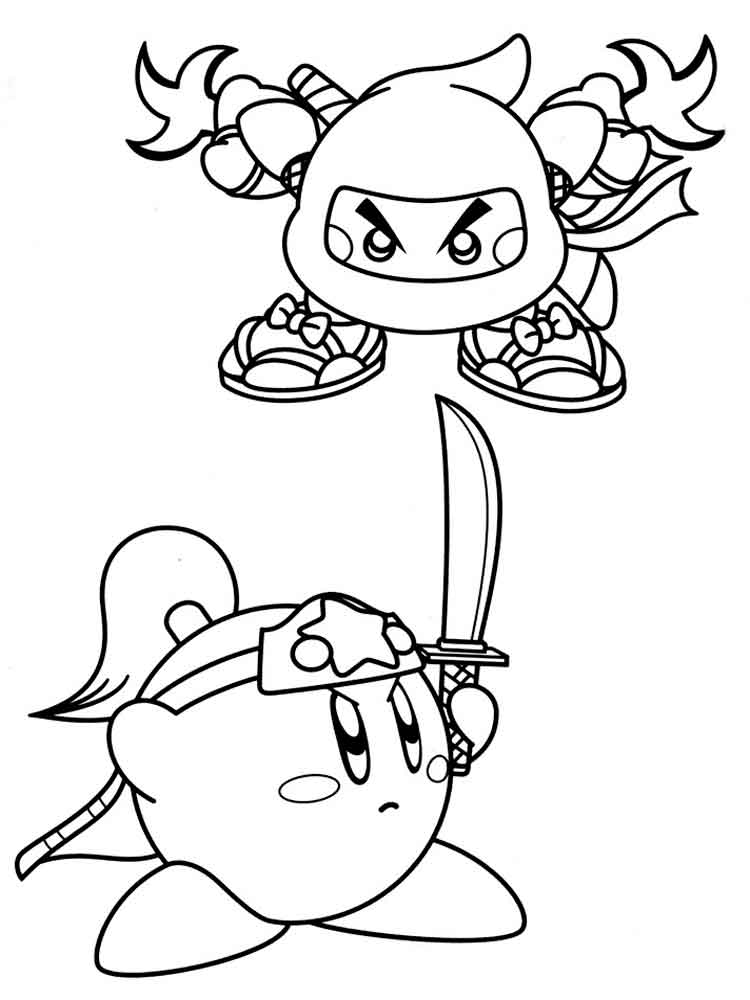 Kirby Coloring Pages 12