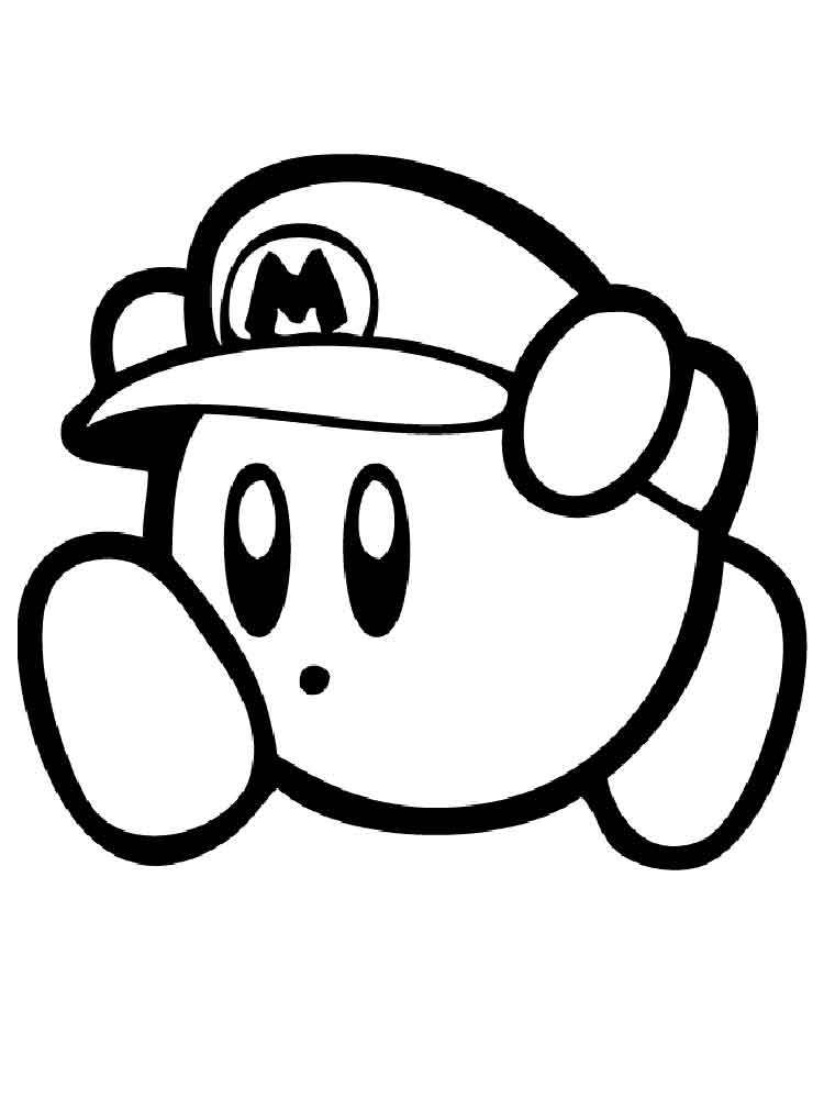 Nintendo Coloring Worksheet Kirby Color By Number