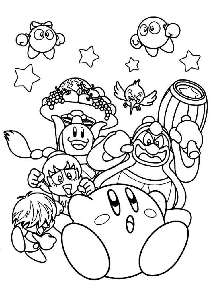 kirby coloring pages 18