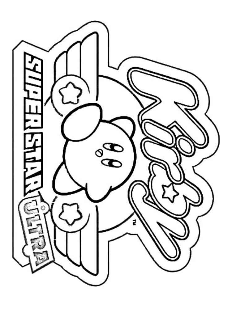 Kirby Coloring Pages Free Printable Kirby Coloring Pages