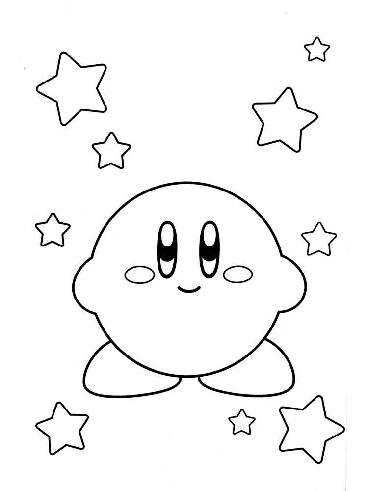 Kirby coloring pages Free Printable
