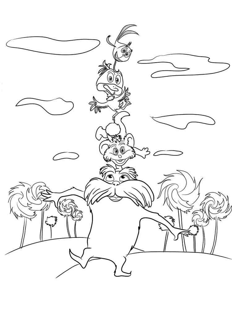 Lorax coloring pages. Free Printable Lorax coloring pages.